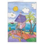 La pequeña casa rosada felicitacion