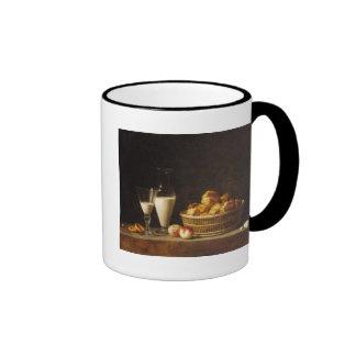 La pequeña colación o la garrafa de la horchata tazas de café