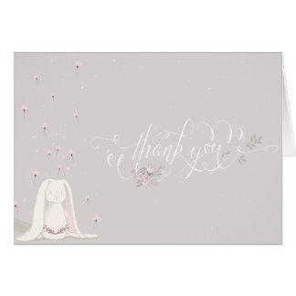 La pequeña fiesta de bienvenida al bebé del conejo tarjeta de felicitación