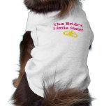La pequeña hermana de la novia camisas de mascota