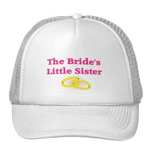 La pequeña hermana de la novia gorros bordados