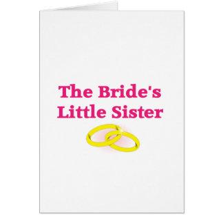 La pequeña hermana de la novia tarjeta