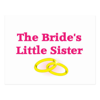 La pequeña hermana de la novia tarjeta postal