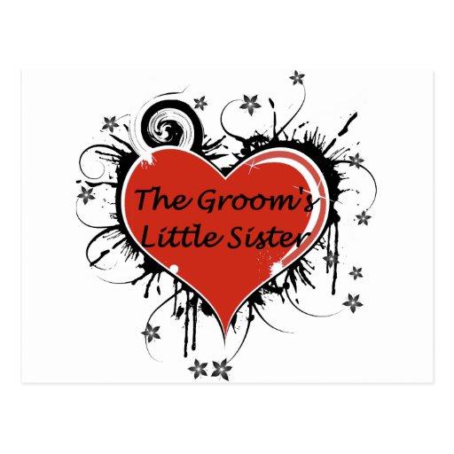 La pequeña hermana del novio tarjetas postales