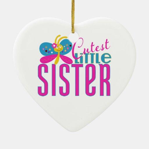 La pequeña hermana más linda - mariposa adornos de navidad