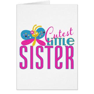 La pequeña hermana más linda - mariposa tarjeta de felicitación