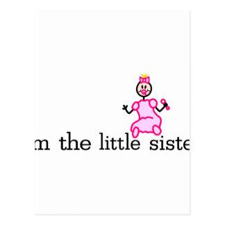 La pequeña hermana tarjeta postal