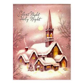 La pequeña iglesia en las maderas tarjetas postales