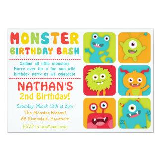 La pequeña invitación del monstruo/el pequeño invitación 12,7 x 17,8 cm