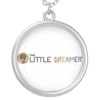 La pequeña línea logotipo del soñador con Zayoni Colgante Redondo