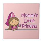 La pequeña princesa de la mamá azulejos ceramicos