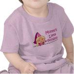 La pequeña princesa de la mamá camiseta