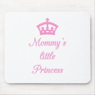 La pequeña princesa de la mamá, diseño del texto c alfombrillas de ratón