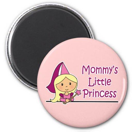 La pequeña princesa de la mamá imán redondo 5 cm