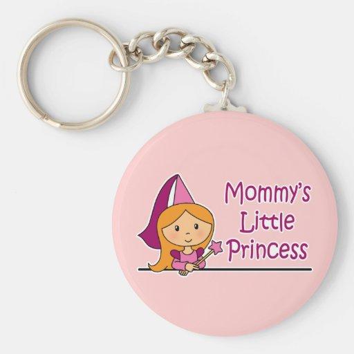 La pequeña princesa de la mamá llavero redondo tipo pin