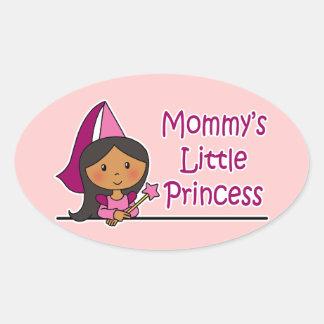 La pequeña princesa de la mamá calcomanías óvales
