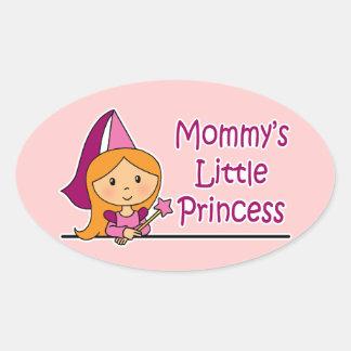 La pequeña princesa de la mamá colcomanias de óval