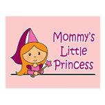 La pequeña princesa de la mamá tarjetas postales