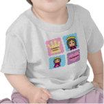 La pequeña princesa del abuelo camisetas
