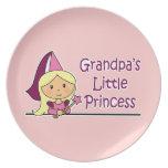 La pequeña princesa del abuelo platos