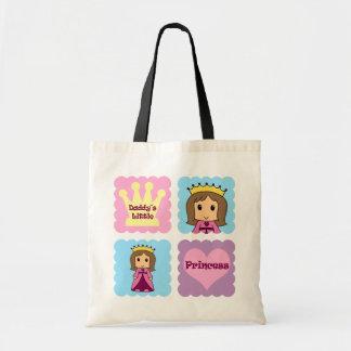 La pequeña princesa del papá bolsa tela barata