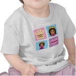 La pequeña princesa del papá camiseta