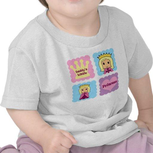 La pequeña princesa del papá camisetas