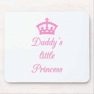 La pequeña princesa del papá, diseño del texto con alfombrilla de ratón
