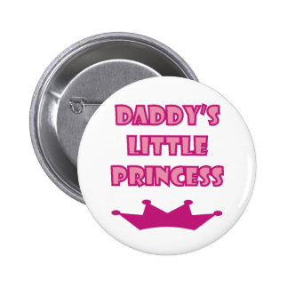 La pequeña princesa del papá pin redondo de 2 pulgadas