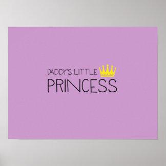 La pequeña princesa del papá póster