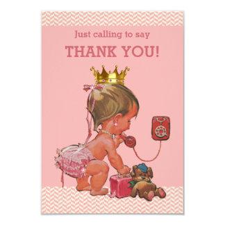 """La pequeña princesa en el teléfono le agradece los invitación 3.5"""" x 5"""""""