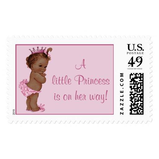 La pequeña princesa está en su bebé étnico del vin sello