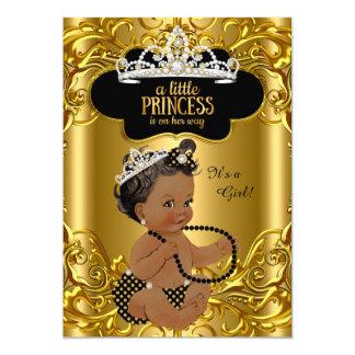 """La pequeña princesa está en su fiesta de invitación 5"""" x 7"""""""