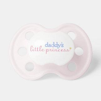 La pequeña princesa Pacifier del papá Chupete De Bebe
