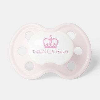 La pequeña princesa Pacifier del papá Chupetes De Bebe