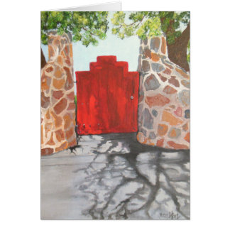La pequeña puerta roja tarjeta pequeña