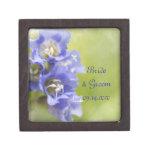 La pequeña púrpura florece la caja de regalo de bo cajas de regalo de calidad