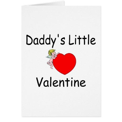 La pequeña tarjeta del día de San Valentín del pap