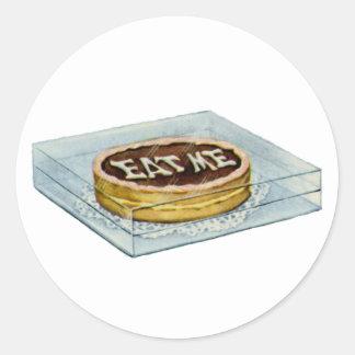 ¡La pequeña torta dijo Eat yo, así que Alicia Etiqueta Redonda