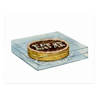 ¡La pequeña torta dijo Eat yo, así que Alicia Tarjeta Postal