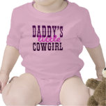 La pequeña vaquera del papá camisetas