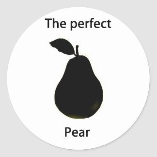 la pera perfecta pegatinas redondas