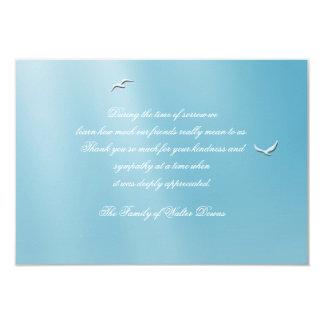 """La pérdida azul del cielo le agradece Notecard Invitación 3.5"""" X 5"""""""