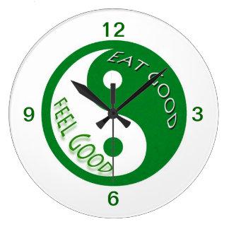 La pérdida de la dieta y de peso come el buen reloj redondo grande