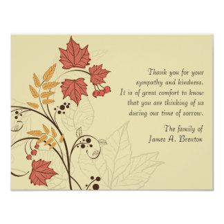 """La pérdida de las hojas de otoño le agradece invitación 4.25"""" x 5.5"""""""