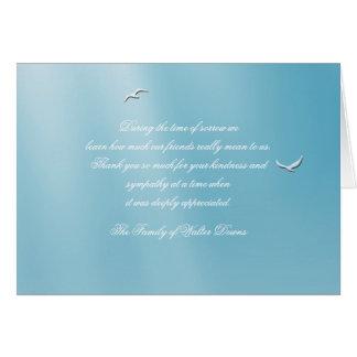 La pérdida doblada cielo azul le agradece Notecard Tarjeta Pequeña
