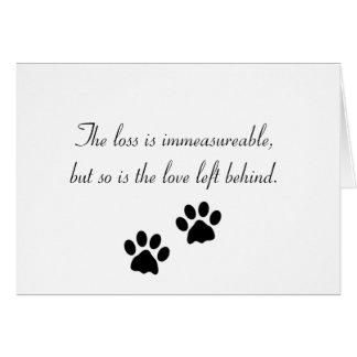 La pérdida es immeasureable… Tarjeta de condolenci