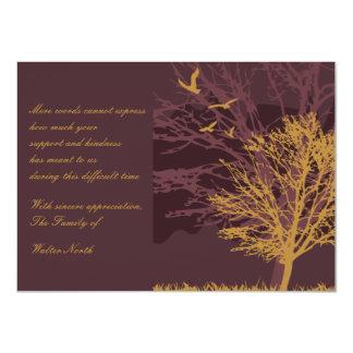 """La pérdida temprana del otoño le agradece Notecard Invitación 4.5"""" X 6.25"""""""