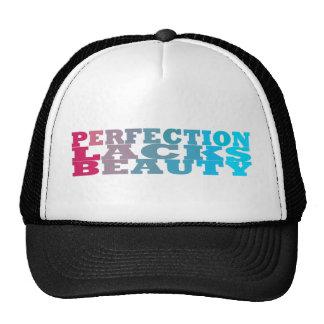 La perfección carece belleza gorras de camionero