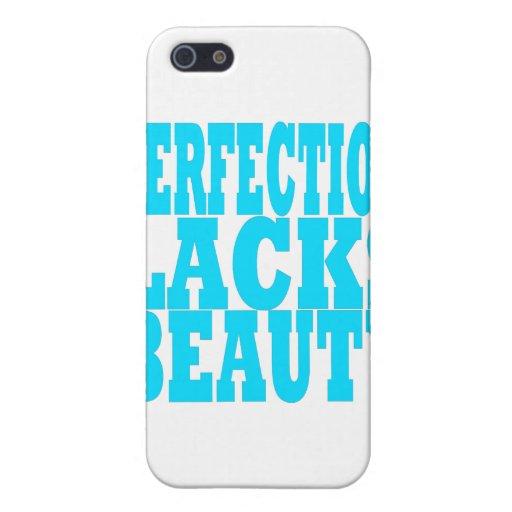 La perfección carece belleza iPhone 5 carcasa